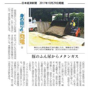 10月29日付日本経済新聞